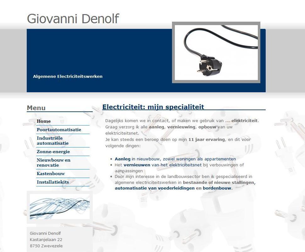 Giovanni Denolf Algemen Electriciteitswerken